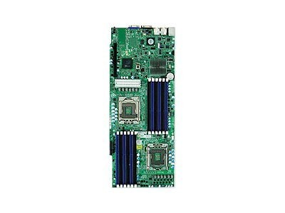 Supermicro Motherboard, Intel 5500, Dual Xeon QC, Proprietary, Max 192GB DDR3, PCIEX16, 2GBE, Video, SATA, IPMI, MBD-X8DTT-HF+