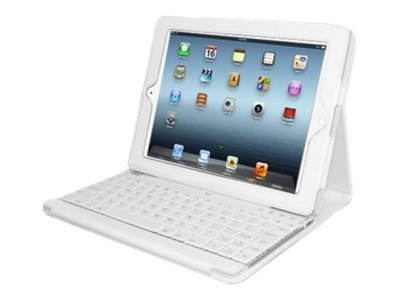 Adesso Campagno3 Keyboard with Case for iPad2 3, White, WKB-1000DW