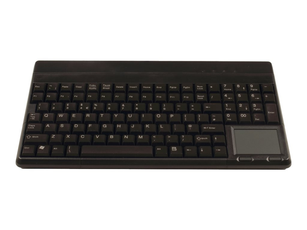 Cherry Keyboard 14 USB with Touchpad US 109 Layout 4 Additional Keys IP 54 Key Field, Black, G86-62401EUADAA
