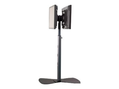 Chief Manufacturing Large Flat Panel Dual Display Floor Stand for 42-71 Displays, Silver