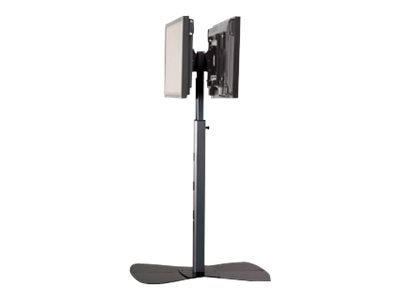 Chief Manufacturing Large Flat Panel Dual Display Floor Stand for 42-71 Displays, Silver, PF22000S, 18047851, Stands & Mounts - AV