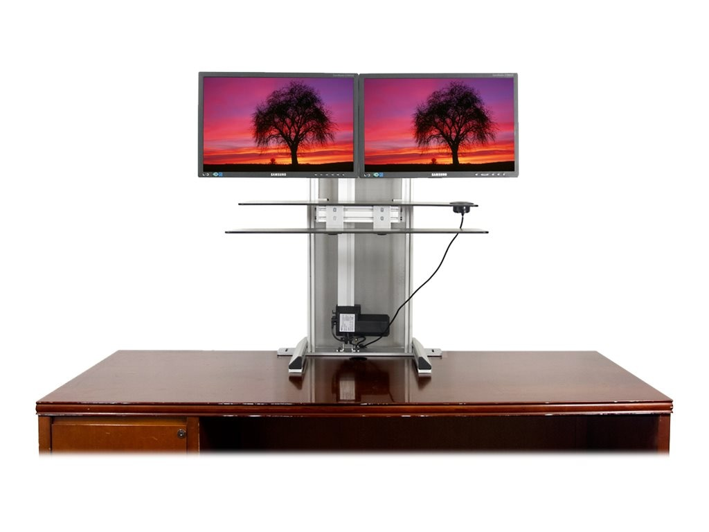Ergotech One Touch Free Stand Sit-Stand Workstation Bundle