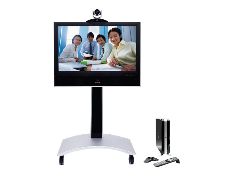 Polycom HDX Media Center 6004 1pt. w  42 1080p LCD + Pedestal, 7200-29910-001, 10422557, Audio/Video Conference Hardware