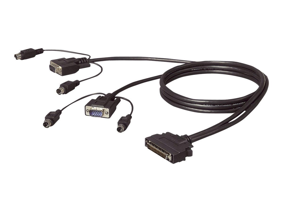 Belkin OmniView ENTERPRISE Series Dual-Port PS 2 KVM with VGA Cable, 6ft - bulk packaging, F1D9400-06, 364650, Cables