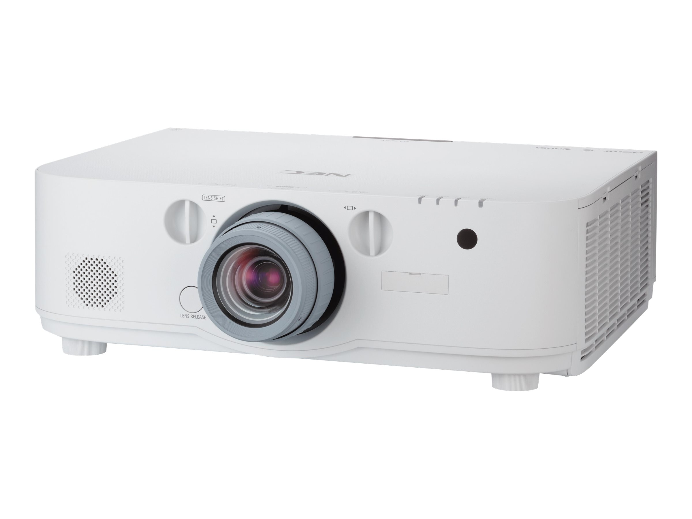NEC PA521U WXGA LCD Projector, 5200 Lumens, White with 1.5 – 3.0:1 Zoom Lens, NP-PA521U-13ZL