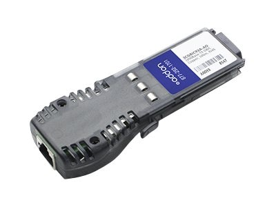 ACP-EP GBIC 100M TX RJ-45 3CGBIC93A TAA XCVR 1-GIG TX RJ-45 Transceiver for HP, 3CGBIC93A-AO
