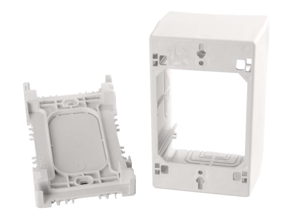 C2G Wiremold Uniduct Single Gang Extra Deep Junction Box, White