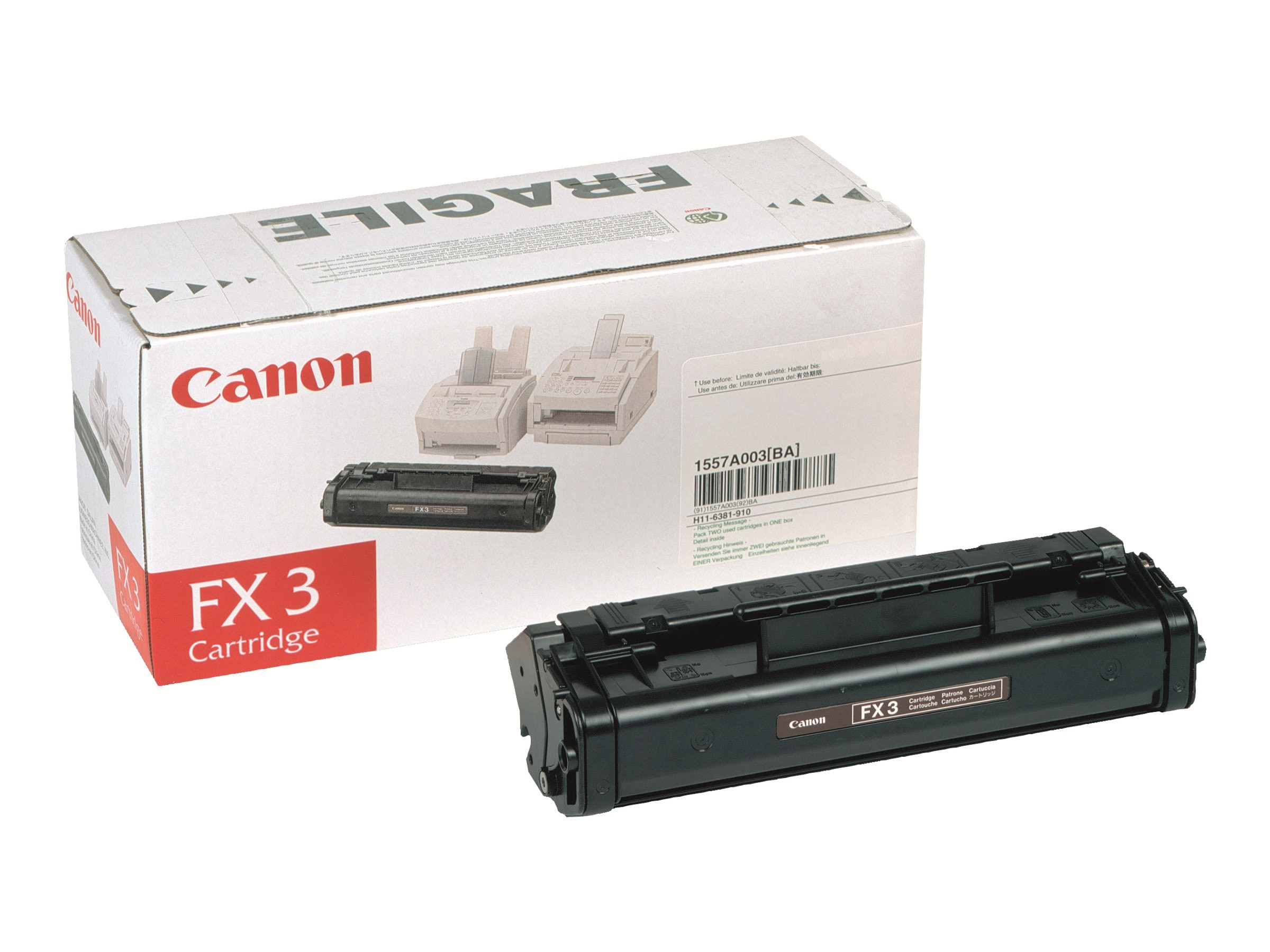 Canon FX-3 Toner Cartridge, 1557A002BA, 243282, Toner and Imaging Components