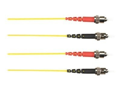 Black Box ST-ST 62.5 125 OM1 Multimode Fiber Optic Cable, Yellow, 25m, FOCMR62-025M-STST-YL