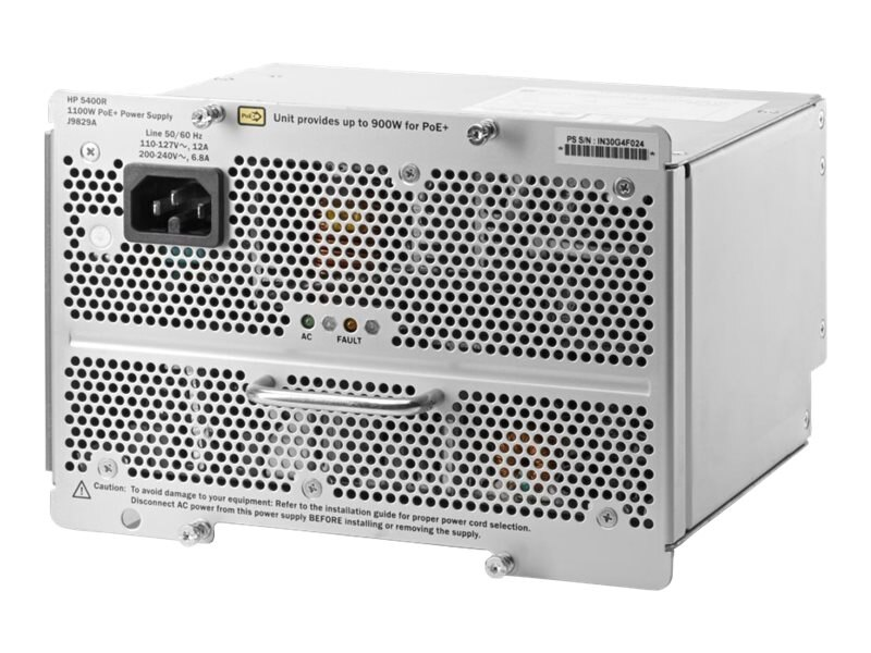 HPE 5400R 1100W PoE+ ZL2 Power Supply US