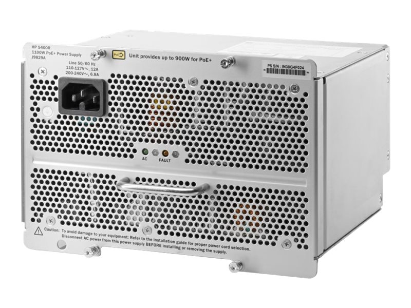 HPE 5400R 1100W PoE+ ZL2 Power Supply US, J9829A#ABA, 17439749, Power Supply Units (internal)