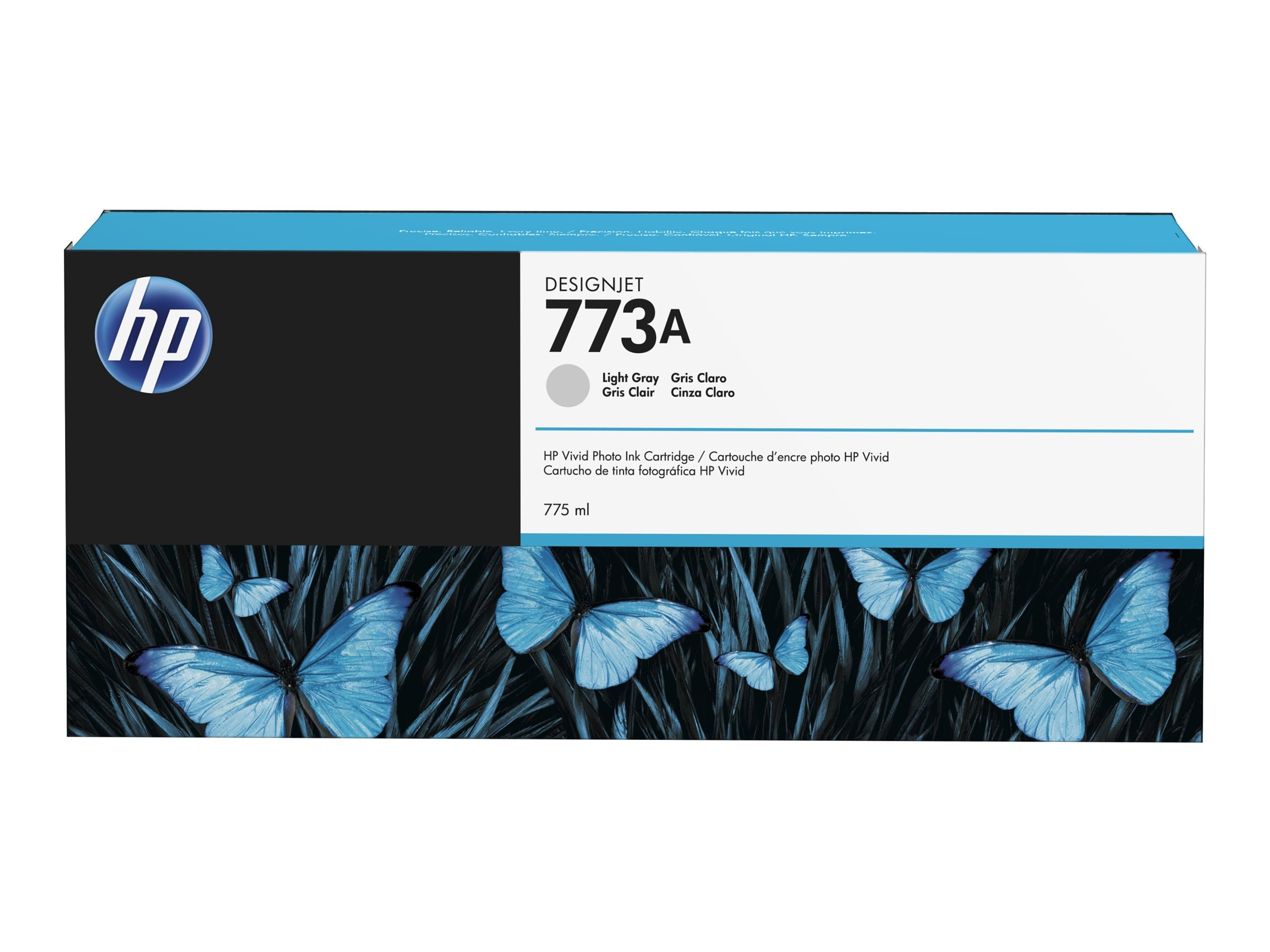 HP 773A (C1Q28A) 775-ml Light Gray DesignJet Ink Cartridge
