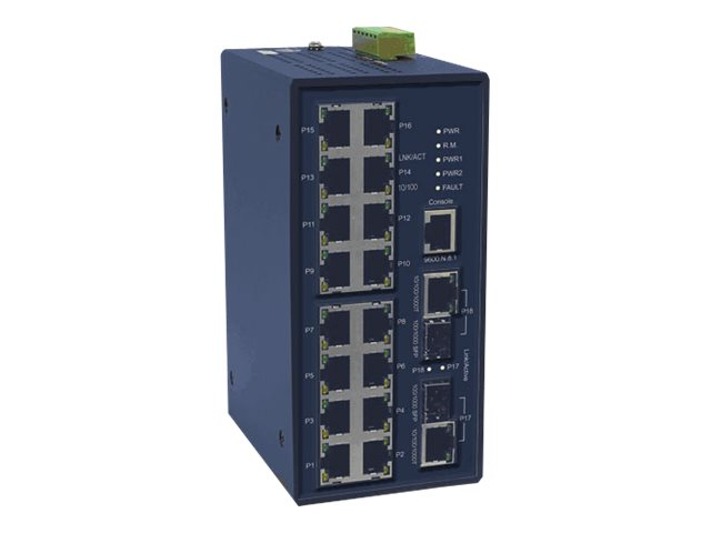 IMC 16-Port FE Mngd Switch w 2xGbE, 2xGbE SFP Slots