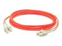 Add On SC-SC 62.5 125 OM1 Duplex Cable, Orange, 15m, ADD-SC-SC-15M6MMF