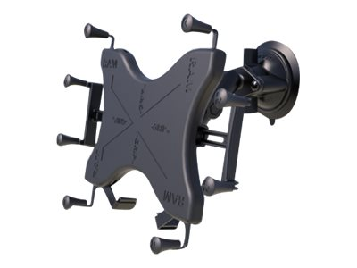 Ram Mounts Twist Lock Suction Cup Mount with Universal X-Grip Cradle for 12 Tablets, RAM-B-166-UN11U