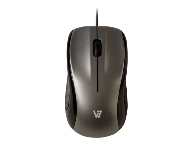 V7 MV3010 3-Button USB Silver Optical Mid-size Mouse 1000dpi Ambidextrous, MV3010010-SIL-5NB, 15772020, Mice & Cursor Control Devices