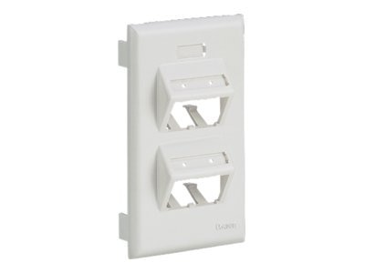 Panduit Vertical Sloped Faceplate 4-Position Ultimate ID Single-gang Snap-on, UIT70FV4EI