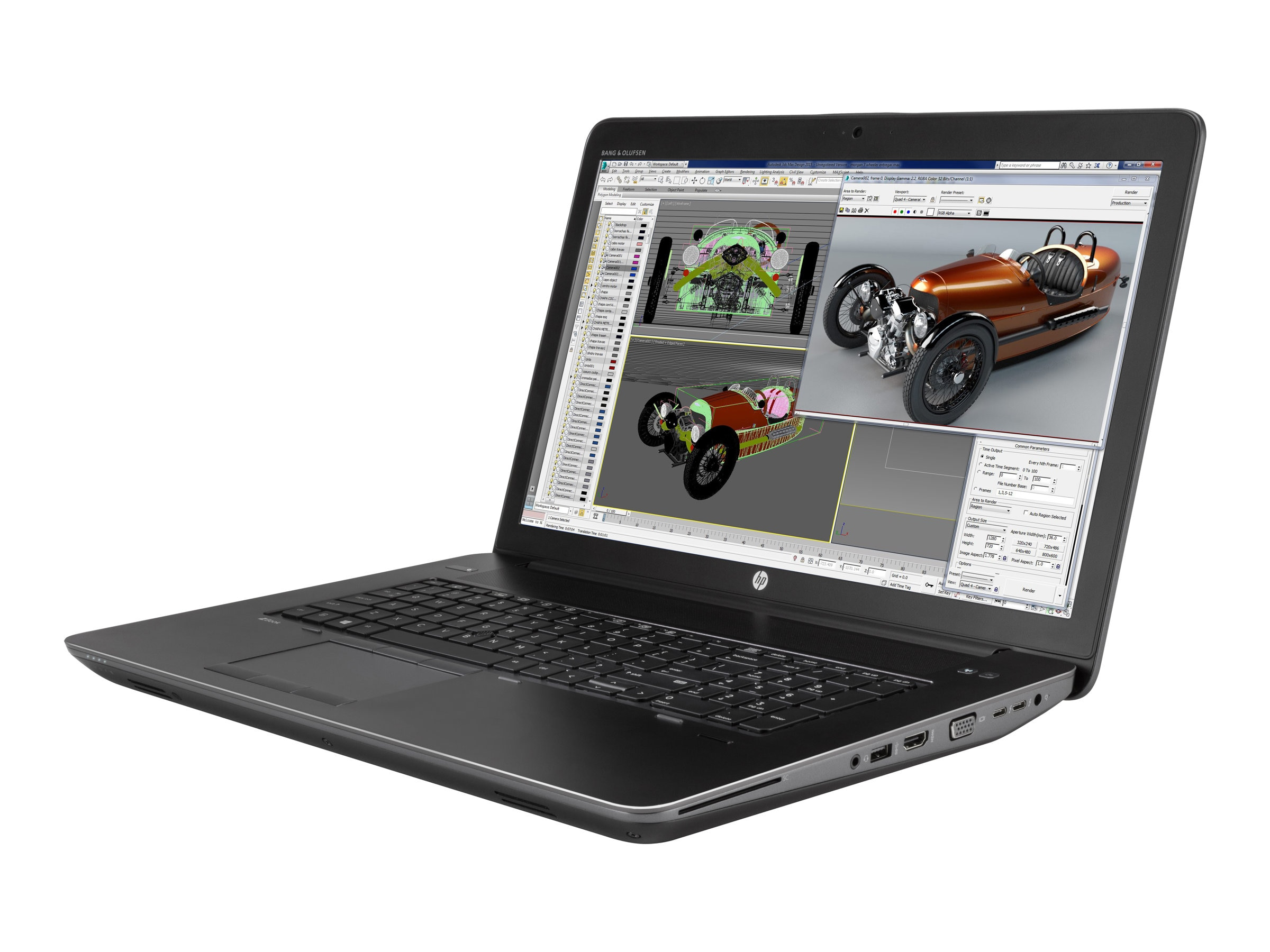 HP ZBook 17 G3 Core i7-6700HQ 2.6GHz 16GB 512GB PCIe ac GNIC BT FR WC 6C M3000M 17.3 FHD MT W10P64