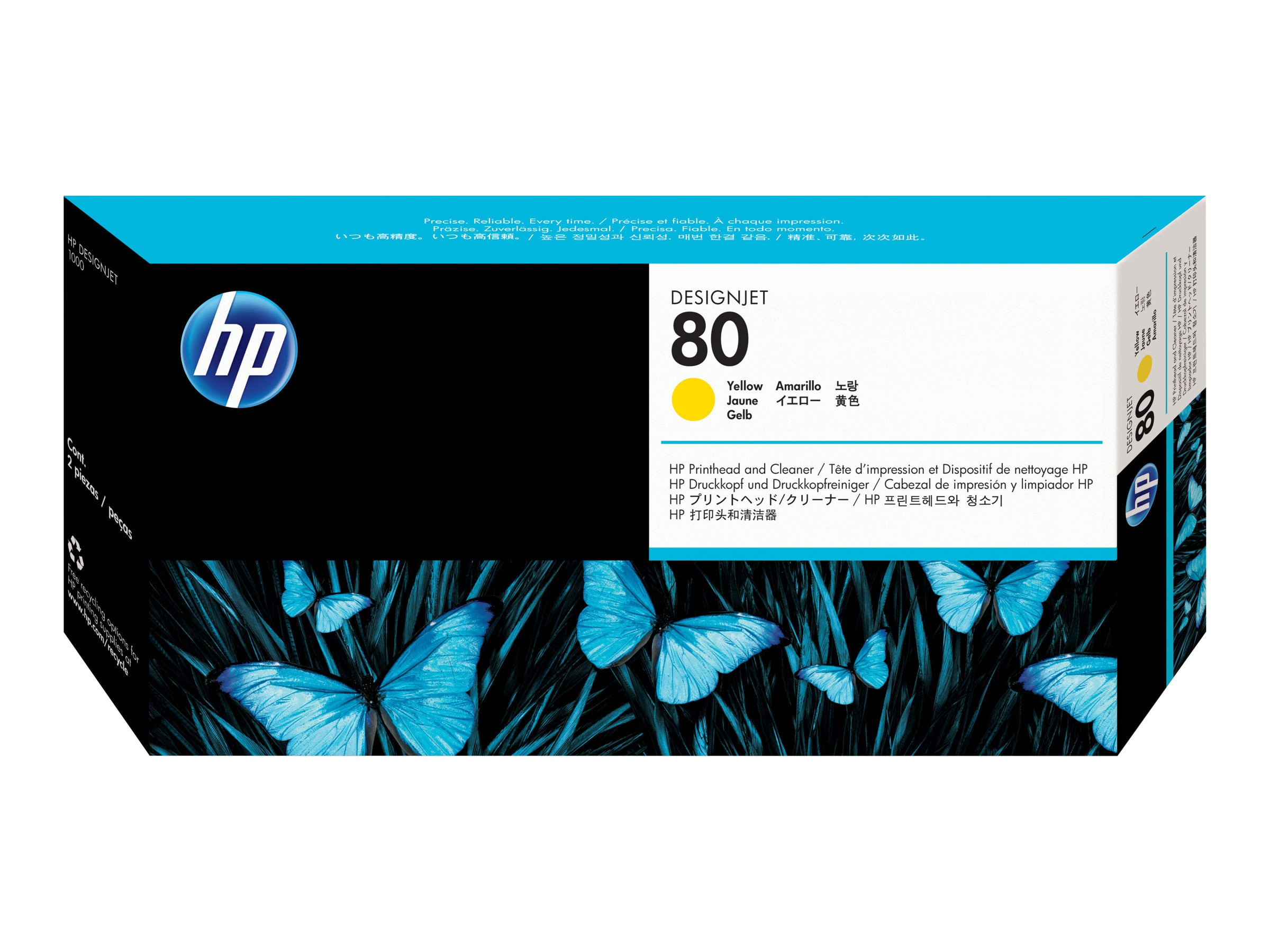 HP 80 Yellow Printhead & Cleaner
