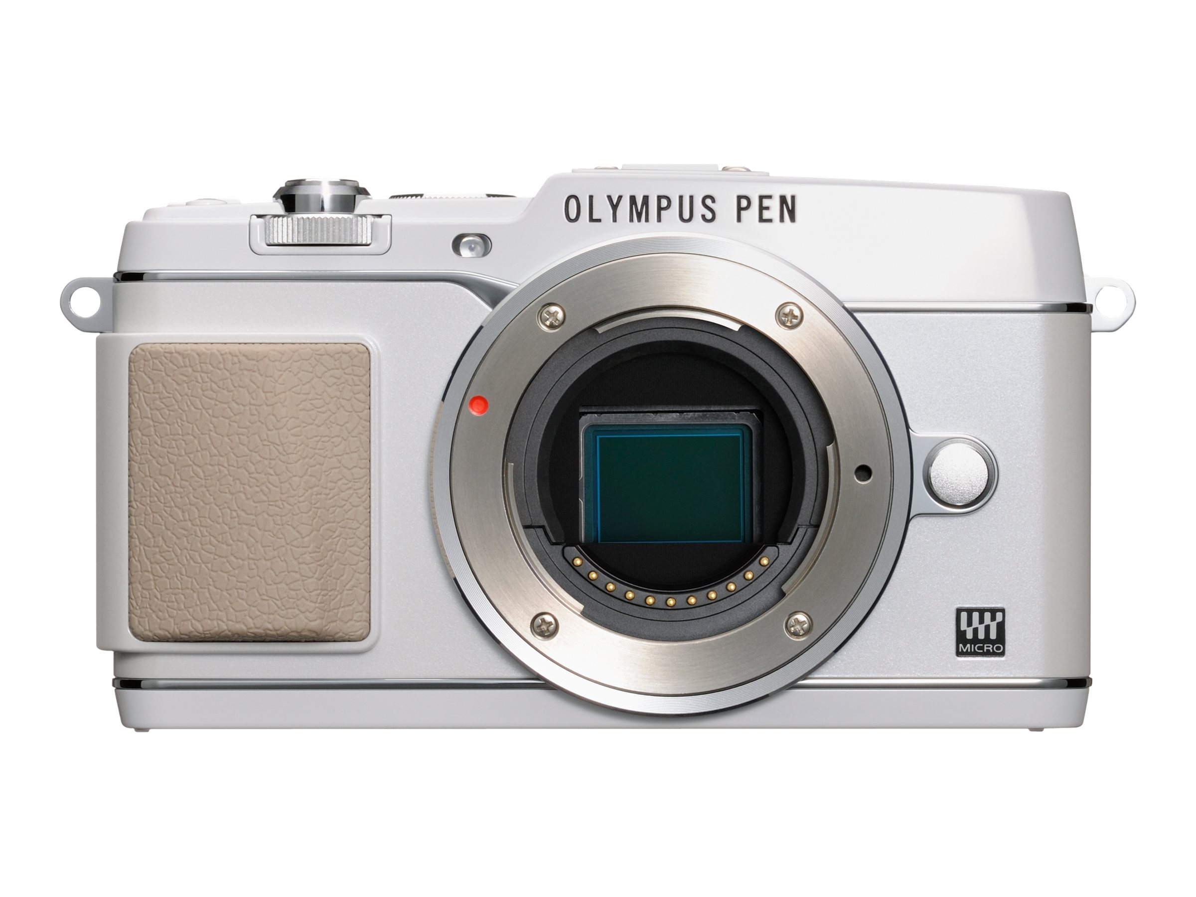Olympus E-P5 PEN Mirrorless Digital Camera, White, V204050WU000, 15751907, Cameras - Digital - SLR