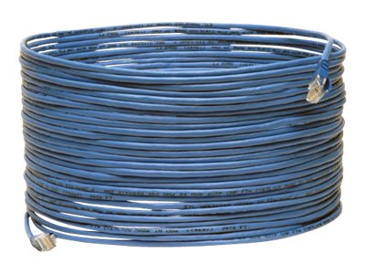 Tripp Lite Cat5e Plenum Snagless Patch Cable, Blue, 75ft