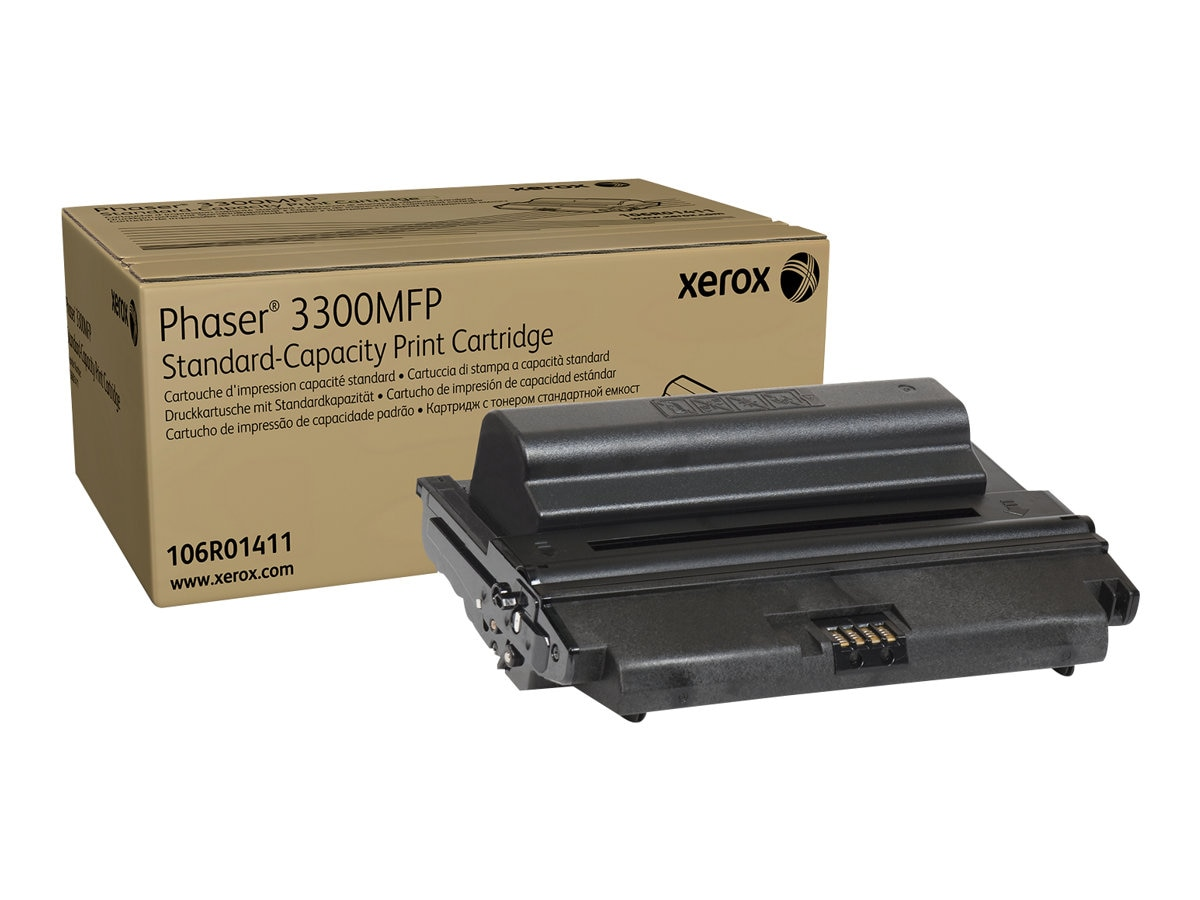 Xerox Black Standard Capacity Toner Cartridge for Phaser 3300MFP, 106R01411