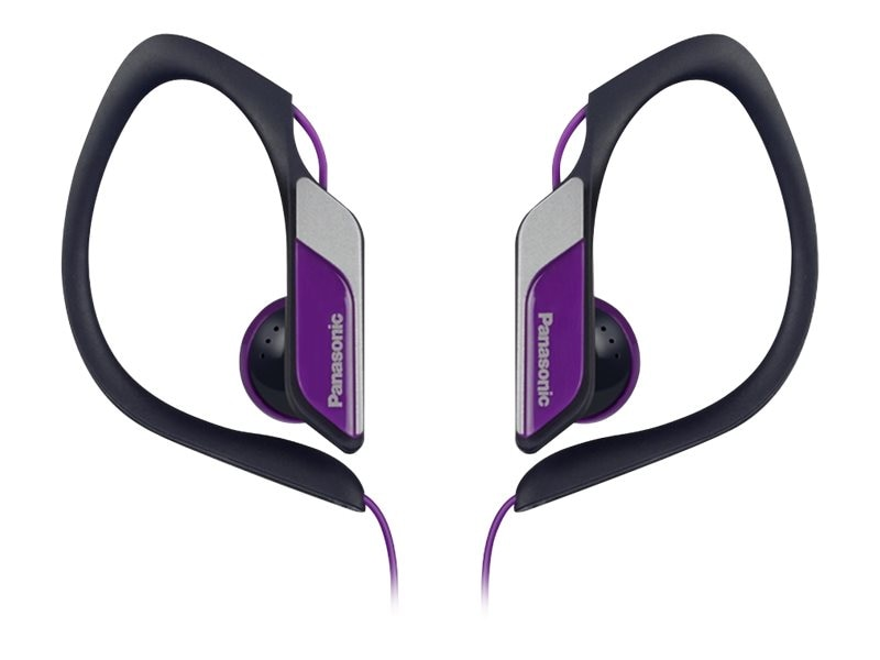 Panasonic HS34 Water Sweat Resistant Sports Clip Earbud - Violet, RP-HS34-V, 21085656, Headphones