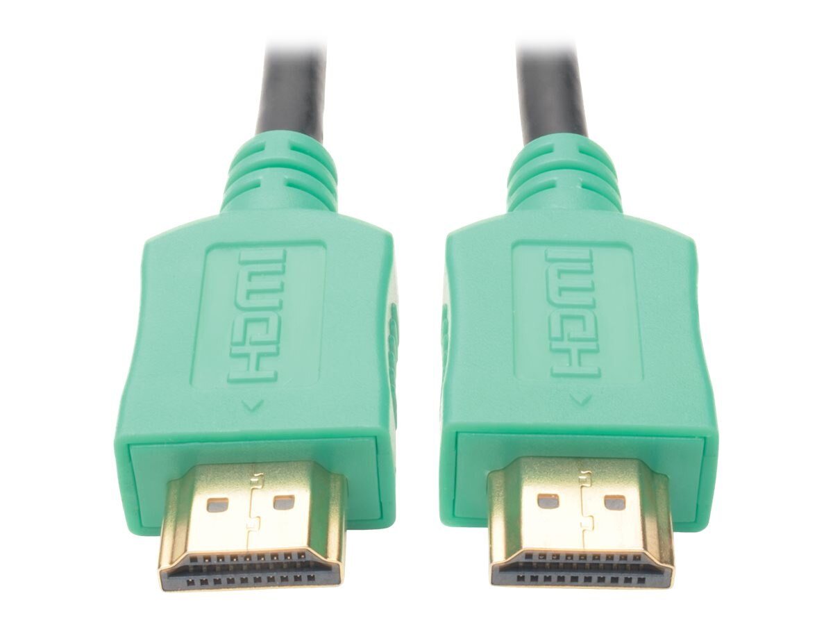 Tripp Lite High-Speed HDMI M M 4K x 2K Ultra HD Cable with Digital Video and Audio, Green, 10ft