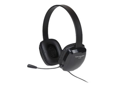 Cyber Acoustics Stereo Headset with Flexible Boom Mic, Black