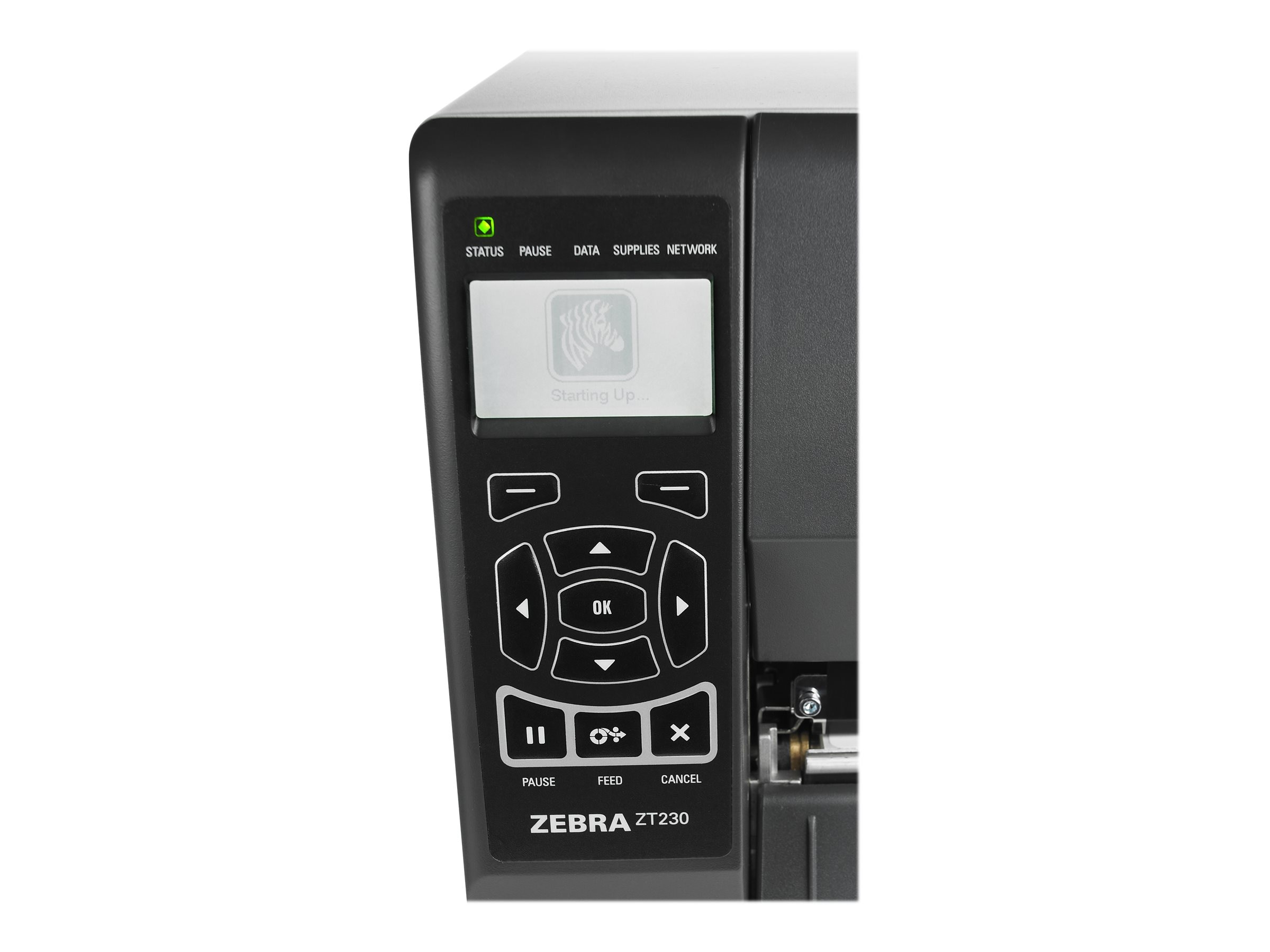 Zebra ZT230 TT 203dpi Serial USB Parallel Printer w  US Power Cord Plug, ZT23042-T01100FZ