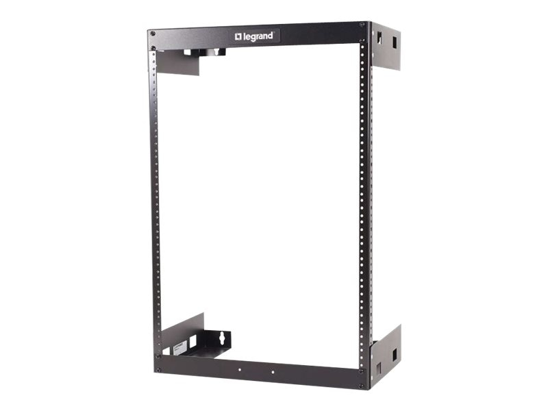 C2G 15U Wall Mount Open Frame Rack 18d, 14613, 30902312, Racks & Cabinets
