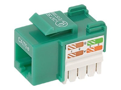 Belkin Cat5e Keystone Jack, 568A 568B, Green, 10-pack, R6D024-AB5EGR10, 7630718, Premise Wiring Equipment