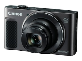 Canon PowerShot SX620 HS Digital Camera, 20.2MP, 25x Zoom, Black, 1072C001, 33255851, Cameras - Digital