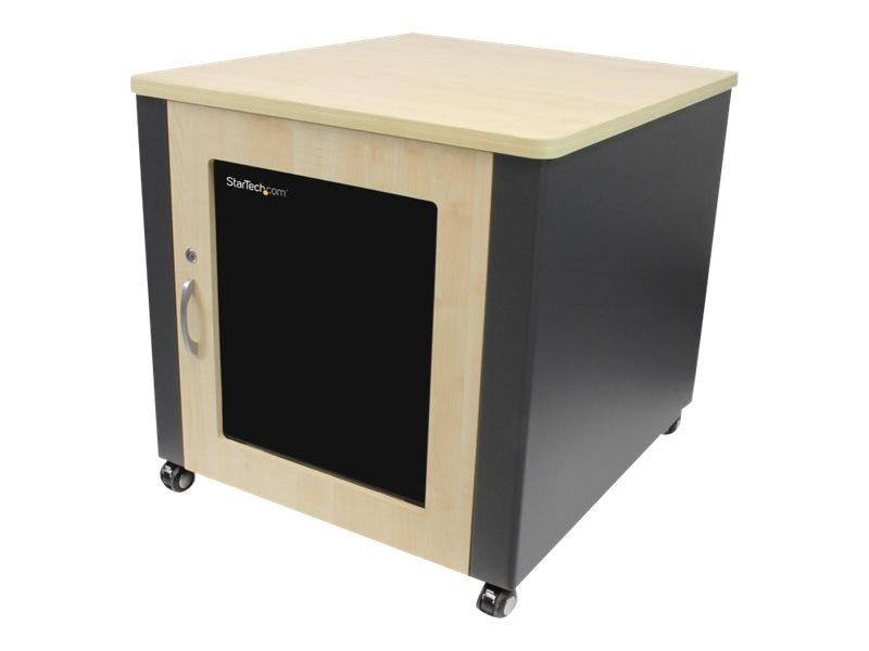StarTech.com Quiet Office Server Cabinet 12U Wood Finish Casters Fans, RKQMCAB12, 17429090, Racks & Cabinets