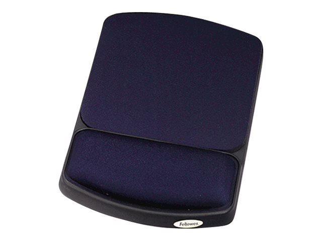 Fellowes Jewel Tones Gel Wrist Rest & Mouse Pad - Sapphire Black, 98741, 131520, Ergonomic Products