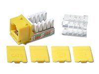 C2G Cat6 RJ-45 Keystone Jack, Yellow, 29318, 5361180, Premise Wiring Equipment