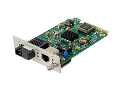 ACP-EP Media Converter Card  100BXD 20KM 1550 1310NM SM SC For Add-Rack System, ADD-MCC1MBX53-20