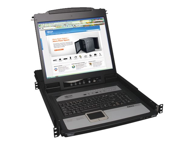 Tripp Lite 8-Port NetDirector 1U Console IP KVM Switch with 19 LCD, B020-U08-19-IP, 11571634, KVM Switches