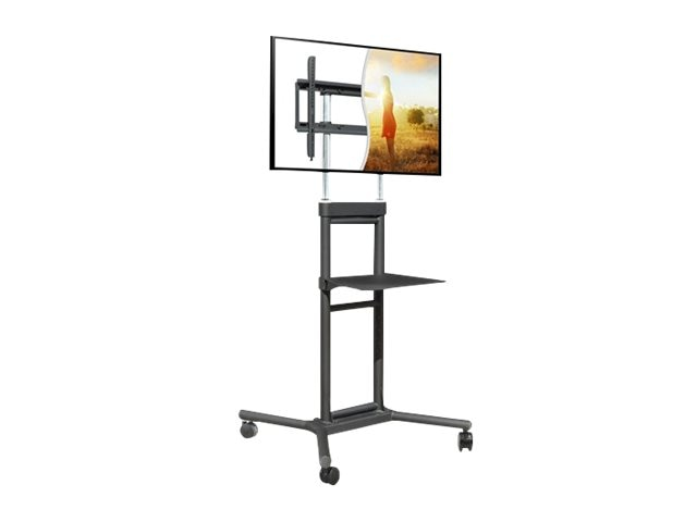 DoubleSight Mobile TV Cart with Shelf for 32-70 Displays