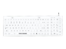 Man & Machine Full-Sized, Water-Resistant, Sealed, Silicone Keyboard, DCOOL/W5, 19336671, Keyboards & Keypads