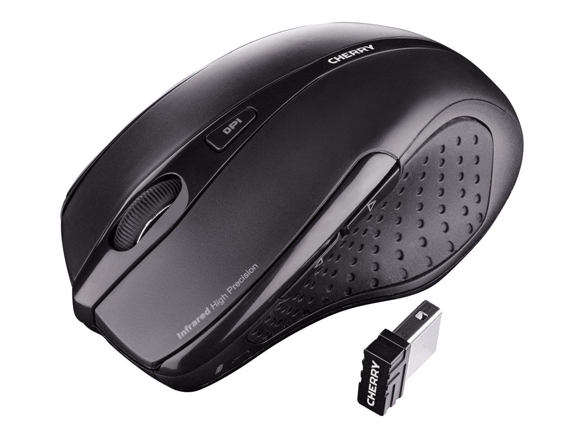Cherry MW 3000 Mouse 2.4GHz Wireless USB Nano-receiver 5-Button Black, JW-T0100