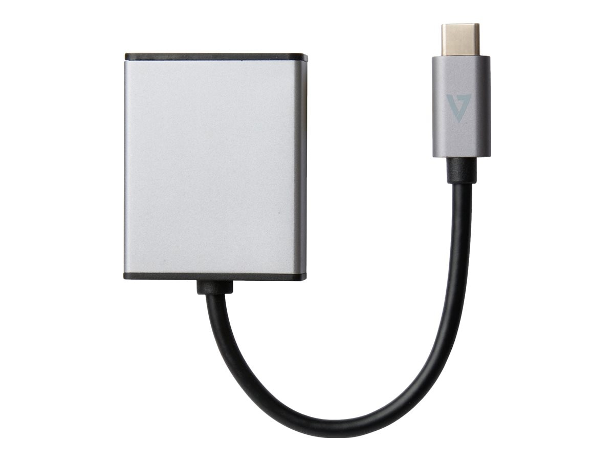 V7 USB-C to HDMI M F Adapter, Gray, V7UCHDMI-ALUGR-1NC
