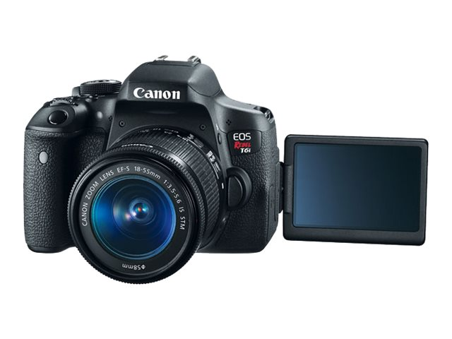 Canon EOS Rebel T6i Camera with EF-S 18-55mm f 3.5-5.6 IS STM Lens Kit, Black