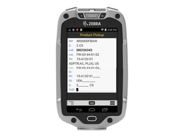 Zebra Symbol TC8000 802.11abgn BT 4.0 1D Laser Std Range SE965 4 WVGA Display 1 4GB Android 4.4.3, TC80N0-A000K110NA