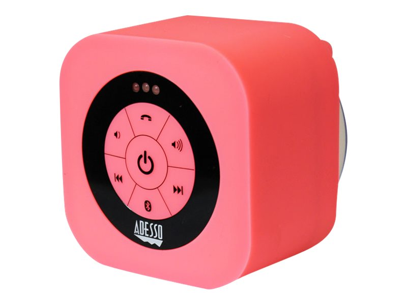 Adesso Waterproof Bluetooth Speaker - Pink, XTREAMS1P, 17456071, Speakers - Audio