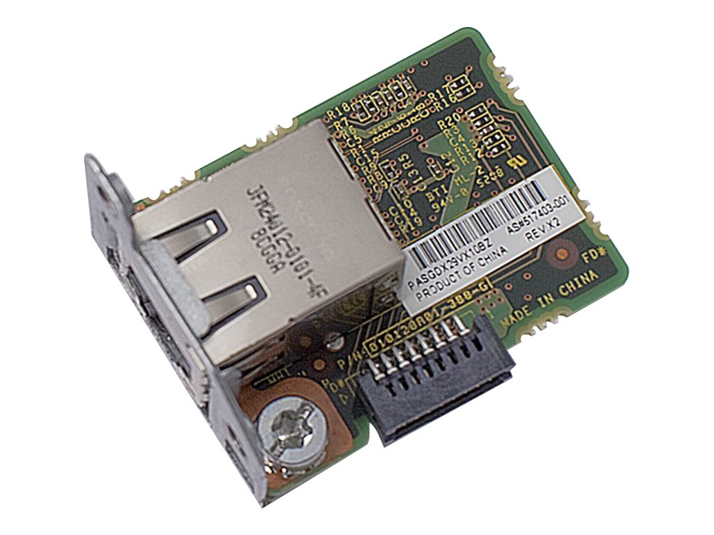 HPE Dedicated iLO Management Port Kit, 674845-B21, 14887482, Controller Cards & I/O Boards