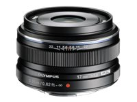 Olympus M.ZUIKO Digital 17mm f 1.8 Lens, Black, V311050BU000, 15751966, Camera & Camcorder Lenses & Filters