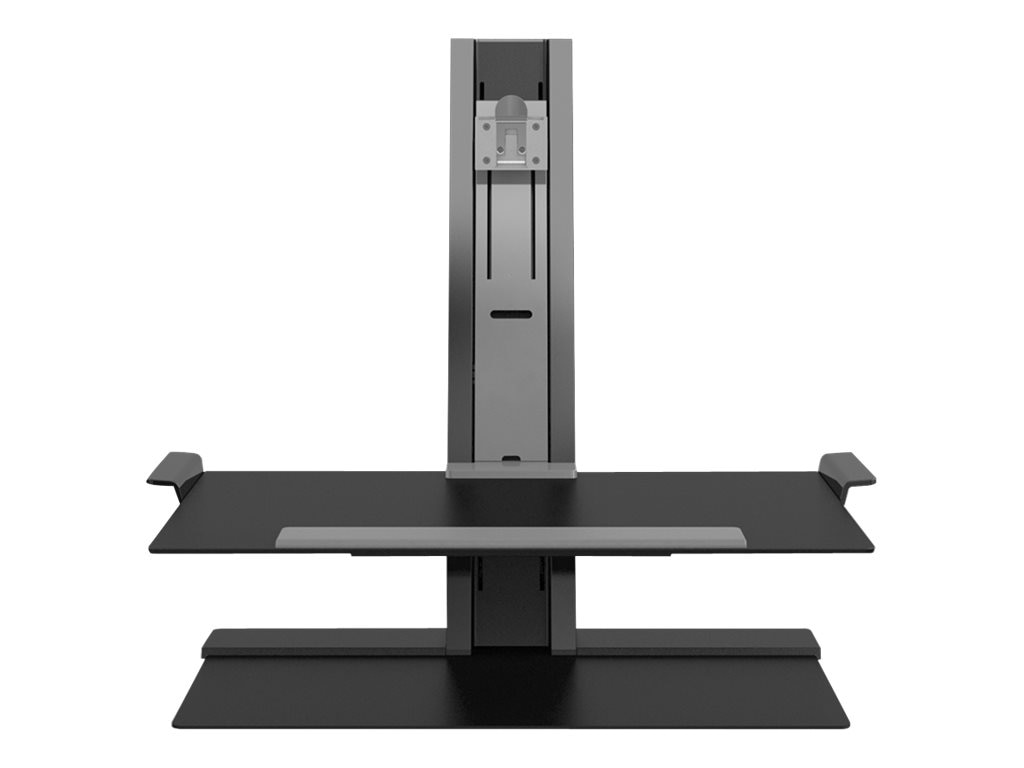 Humanscale QuickStand with Single Display Support, Adjustable Sit-Stand Workstation, QSBL30FDN