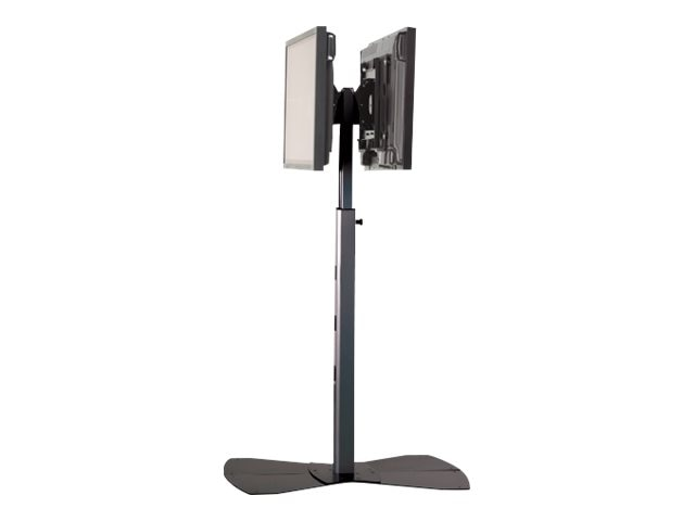Chief Manufacturing Medium Flat Panel Dual Display Floor Stand for 30-55 Displays, Silver