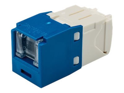 Panduit CAT6 8-Position Spring Shuttered UTP Jack Module, Blue